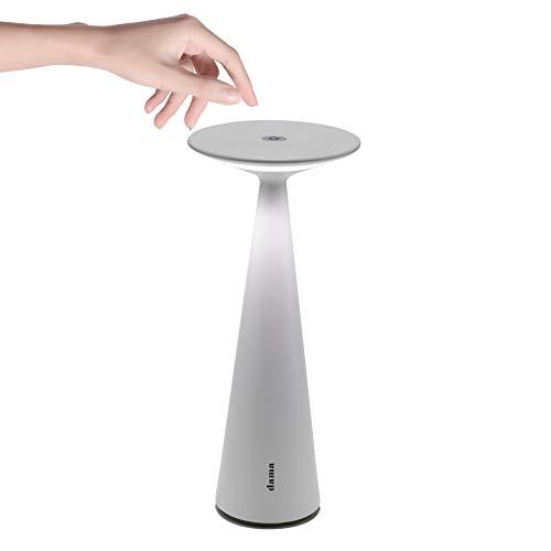 Zafferano - Dama Lampada LED Dimmerabile da tavolo in alluminio, Protezione IP54, Uso Interno/Esterno, H29cm, Plug EU - Bianco