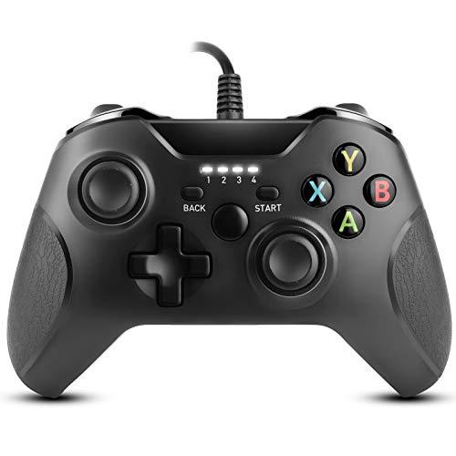 Zexrow Xbox One Game Controller, Controller cablato per Xbox One, Dual Vibrazione USB Wired Game Controller Gamepad compatibile con Microsoft Xbox One/X/S/Elite