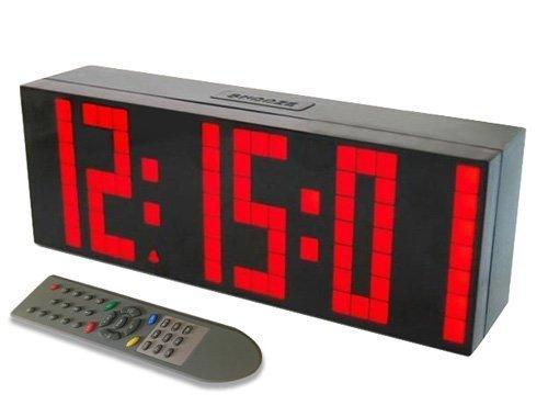ZJchao - Orologio digitale LED da parete, di grandi dimensioni, con funzione sveglia, timer, countdown e telecomando