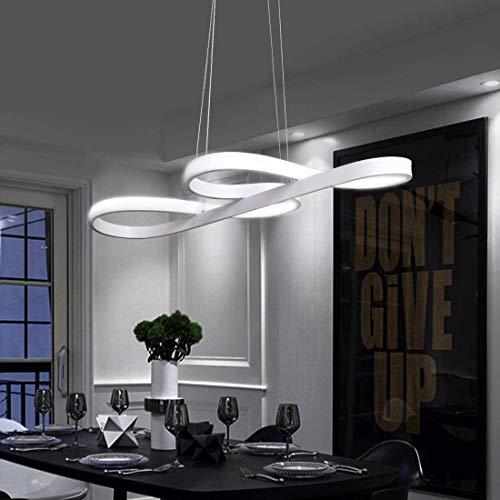 ZMH Lampada a Sospensione LED 47W Lampadario a Sospensione Dimmerabile bianco caldo| neutro | bianco freddo Plafoniera Lampada da soffitto con il telecomando per tavolo da pranzo (bianco) [brevetto]
