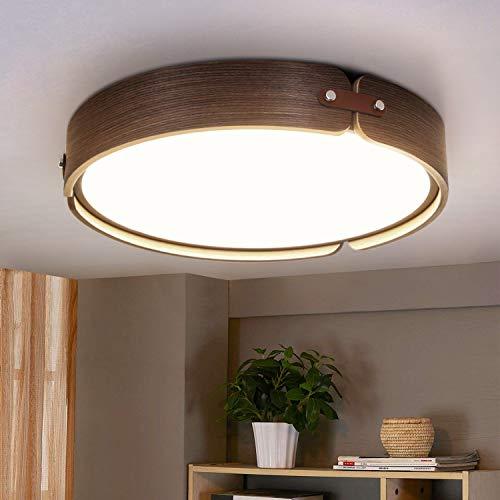 ZMH Plafoniera LED 26W rotonda in legno Lampada da soffitto 4000K bianco neutro Lampada da salotto Ø42CM Lampadario moderno per soggiorno camera da letto ufficio