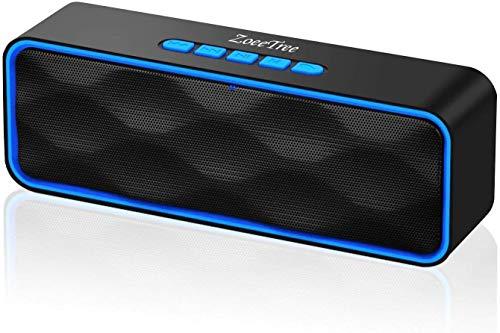ZoeeTree S1 Altoparlante Bluetooth Portatili, Cassa Bluetooth con Audio HD e Bassi Potenziati, Speaker Doppio Driver con Radio FM, Chiamata Senza Mani, Slot per Scheda, Compatibile con Alexa