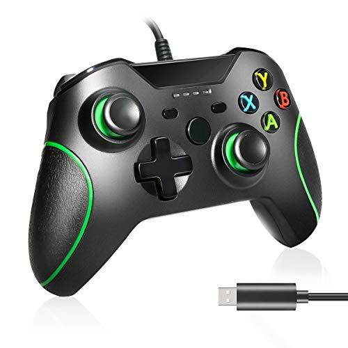 Zwini Controller cablato per Xbox One, Plug and Play Controller Xbox One Cuffie jack audio da 3,5 mm, Controller cablato USB Gamepad Joystick per Xbox One / Xbox One X / Xbox One S e con PC