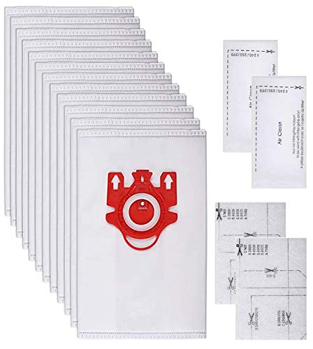 12 Sacchetti e 2 filtri per Miele Serie F/J/M HyClean 3D Efficiency Sacchetti per Aspirapolvere Miele 9917710
