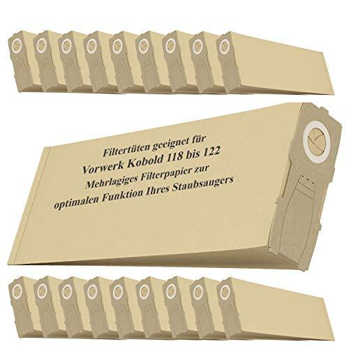20 sacchetti di ricambio per aspirapolvere Vorwerk Folletto VK118 VK119 VK120 VK121 VK122 Aspirapolvere manuale sacchetto filtro accessori
