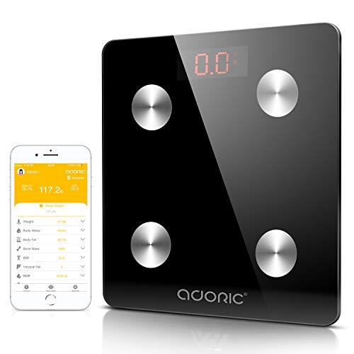 Adoric Bilancia Diagnostica Digitale Wireless per IOS e Android (nero)