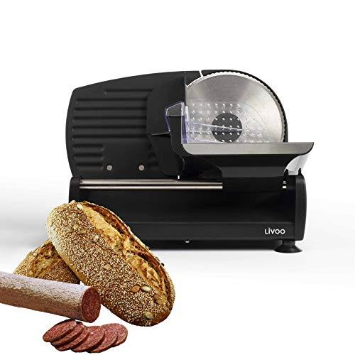 Affettatrice elettrica per pane con lama in acciaio inox (affettatrice, spessore di taglio 0-15 mm, lama ondulata, supporto solido, coltello elettrico)