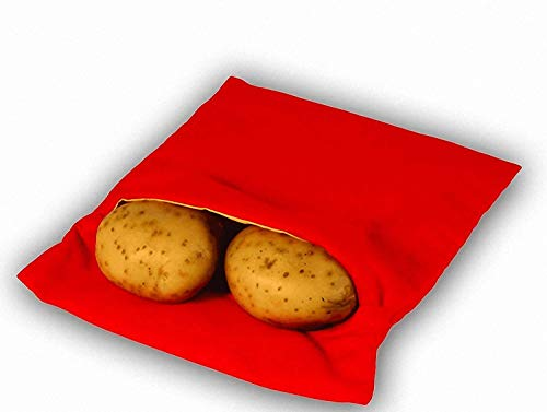 Always Fresh Kitchen Cook Tatoes - Borsa per Patate in microonde, 2 x 22 x 17 cm, Colore: Rosso