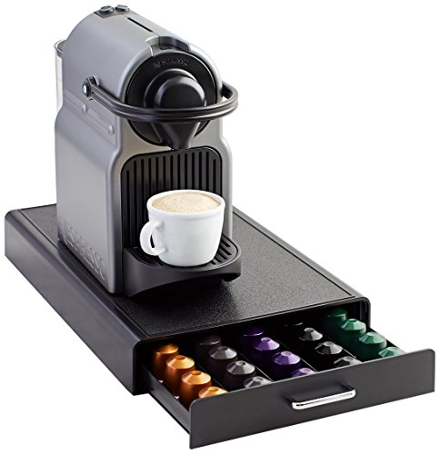 Amazon Basics - Cassetto per capsule per Nespresso, capacità: 50 capsule