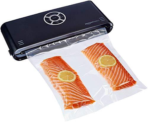 Amazon Basics, Macchina sigillatrice per sottovuoto, Larghezza di sigillatura 30 cm,10 sacchetti per sottovuoto inclusi, Nero
