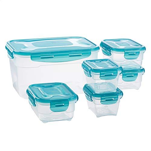 Amazon Basics Set di contenitori per alimenti, 6 pezzi