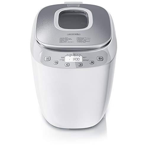 Arendo - Macchina per pane – Automatica - 12 programmi – Impastatrice -Programma senza glutine - 700-1000 gr - Azionamento diretto - Obló - Funzione Keep warm - Antiaderente - BPA-free