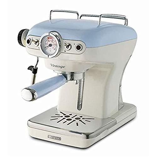 Ariete 1389 Caffè Espresso Vintage - Macchina per caffè Espresso per polvere o cialda ESE, in colore Celeste pastello