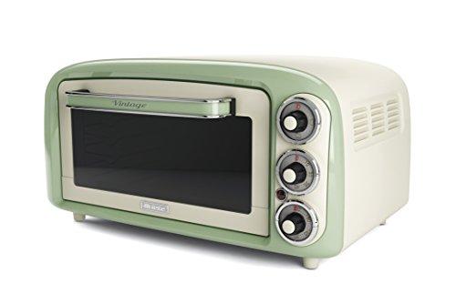 Ariete 979 - Forno Elettrico di Design 18 Litri, Idoneo per pizza da 30 cm, 1380W, 3 posizioni di cottura, Timer 60', Acciaio Inossidabile, Verde Pastello