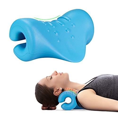 ASDFGB Massaggiatore Cervicale Imassage per Cervicale Collo e Spalle Trazione Cervicale Cuscino da Massaggio Massaggio Cervicale Shiatsu per Alleviare il Dolore per Uomini e Donne