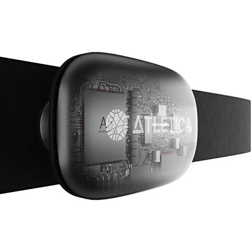 Atletica Sport Cardiofrequenzimetro con Fascia Toracica, 5.3kHz, Ant+, Bluetooth 5.0, misurazione Accurata della Frequenza Cardiaca, Pulsazioni, Consumo Calorico. Compatibile Orologi Garmin e Polar