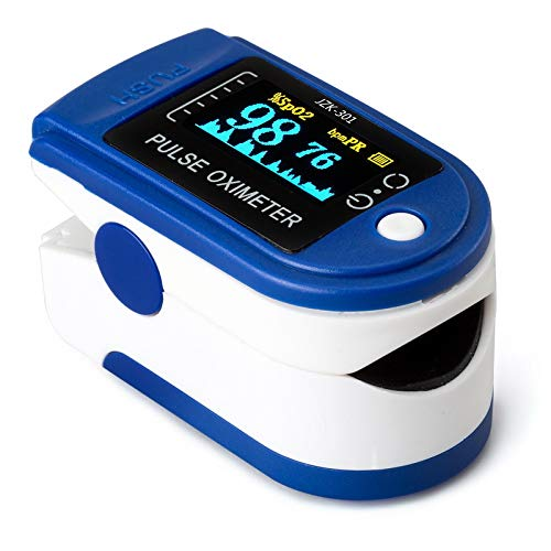 AUA Pulsossimetro da Dito, Saturimetro da Dito Portatile Professionale, 4 direzioni Regolabili, Display OLED a 2 Colori,misurazione SPO2, per Uso Domestico, Fitness e Sport estrem