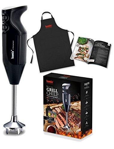Bamix - Set frullatore a immersione Barbecue, colore: nero