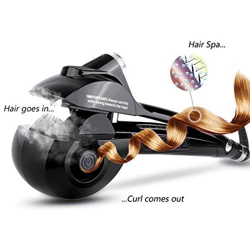 Beautigo Automatico è arricciacapelli con piastre in ceramica e display digitale LED Ferro arricciacapelli automatico