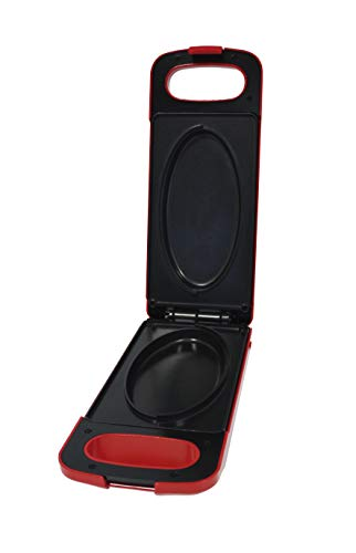 BEST DIRECT EC-0377-R Express Cooker come visto alla TV Cucina Multi Grill Elettrica Antiaderente con Funzione Reversibile, 800 W, Rosso, 800 W