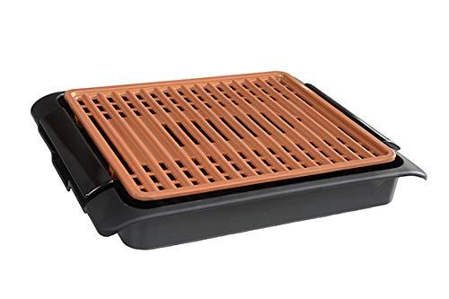 BEST DIRECT Starlyf Smokefree Grill Original Come Visto alla TV Griglia No Fumo Carne Pesce e Verdure Grigliate Cucina Barbecue (Griglia Elettrica Rame)