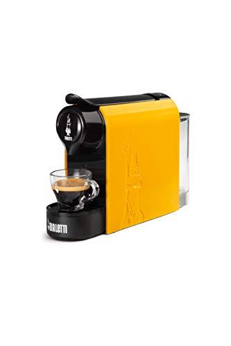 Bialetti Gioia, Macchina da Caffè Espresso per Capsule in Alluminio sistema Bialetti il Caffè d'Italia, Supercompatta, Ocra