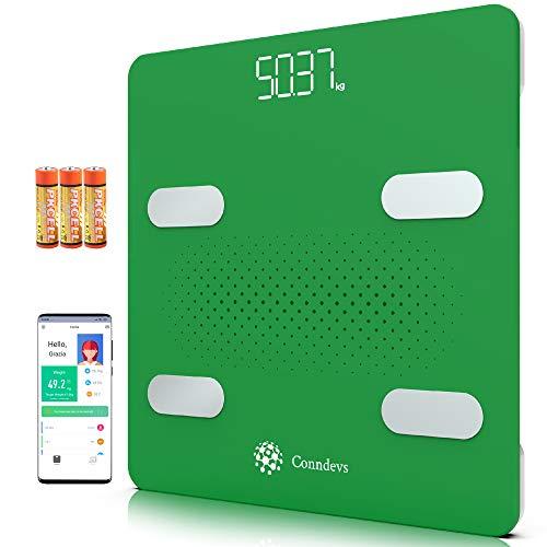 Bilancia Digitale WIFI Pesapersone Impedenziometrica Smart con App | Misuratore massa grassa e magra | Diagnostica di composizione corporea | Compatibile Apple Salute, Google Fit e Fitbit