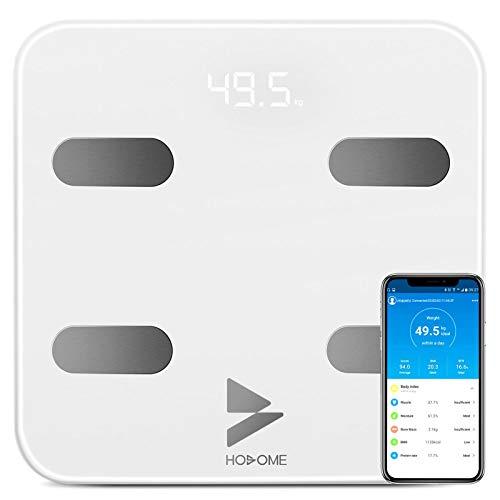 Bilancia Pesa Persona Digitale Bluetooth, Yuanguo Hosome Smart Corpo Composizione Bilancia Pesapersone per BMI, BFR, Muscolo, Compatibile con APP iOS e Android