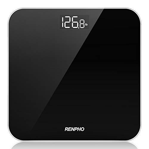 Bilancia Pesa Persone RENPHO, Bilancia Pesapersone Digitale Alta Precisione con Lettura Grande LED Display, Tecnologia Step-On, Capacità 180kg/400lb, Nero