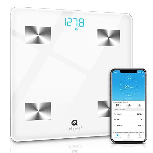 Bilancia Pesapersone Digitale, Arboleaf Intelligente Bilancia--11 Indici Di Misurazione Per Massa Grassa E Metabolismo Basale, Con App Per Ios & Android Smartphone, Utenti Illimitati