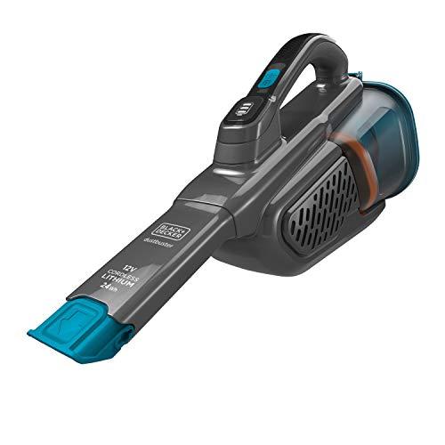 BLACK+DECKER BHHV320B-QW, Aspiratore Ricaricabile Aspirabriciole, 24Wh, capacità Contenitore 700ml, Azione Ciclonica, con Accessori e Base di Ricarica, Bleu & Titanium, 12V