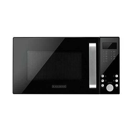 Black+Decker BXMZ900E, Forno a Microonde con Grill, 23L, 900W di Potenza, 1000W Grill, 5 Livelli di Potenza, Funzione Grill, Scongelamento, Timer 95min, Menu Automatico 9 Rcette, 2 Funzioni Combinate