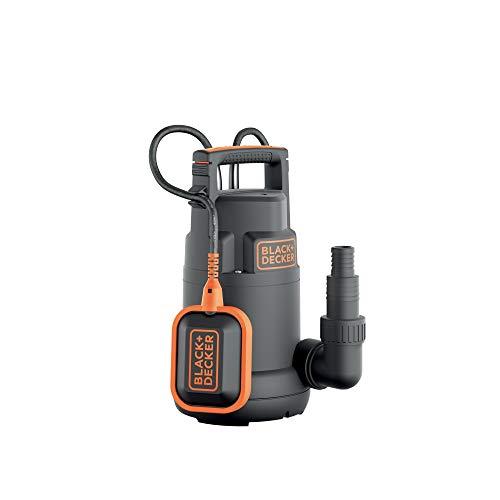 Black+Decker BXUP250PCE Pompa Immersione per Acque Chiare (250 W, Portata max. 6.000 l/h, Prevalenza max. 6 m)