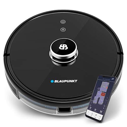 Blaupunkt Bluebot Xtreme - Laser - Robot aspirapolvere e lavapavimenti, Navigazione Laser-Radar Smart 360° - App + Comando vocale, mappe interattive per Diversi Piani + Linee No-Go – innovazione 2021