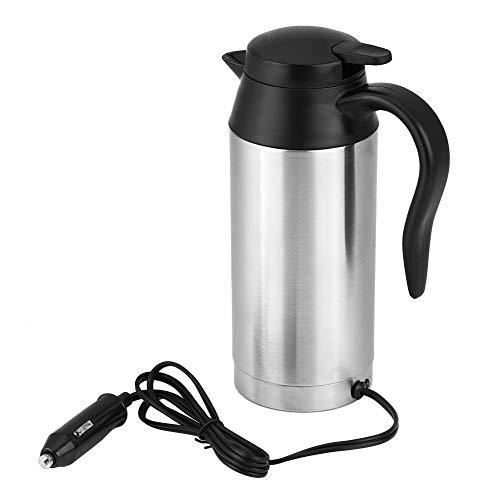 Bollitore automatico, bollitore da viaggio per camion in acciaio inossidabile Bollitore elettrico da viaggio Thermos Cup Cottura rapida per acqua Tè Caffè 750ML