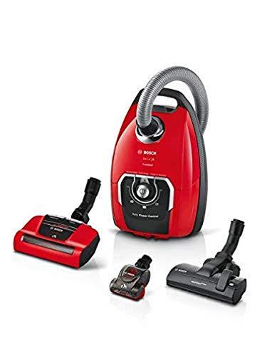 Bosch Electroménager BGL8PET2, Aspirapolvere con Sacco PRO Animal, Rosso, 650 W, 72 decibeles