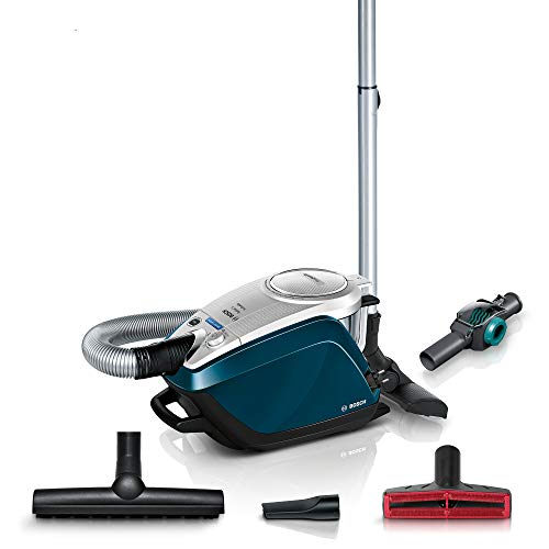 Bosch Hausgeräte Relaxx'x ProFamily BGS5FMLY2, Aspirapolvere Senza Sacchetto, Deep Petrol, extra leise 69 db(A), 700 W, decibeles