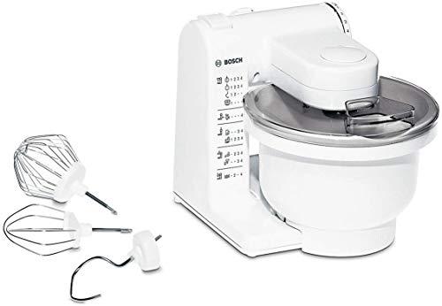 Bosch MUM4405 - Planetaria Robot da Cucina con Ciotola da 3.9 L, Fruste in Acciaio Inox, 4 Velocità, 500 W, Bianco, 30.5 x 26.5 x 26.5 cm