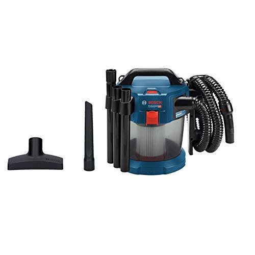Bosch Professional 06019C6300 Aspirapolvere Gas, Batteria e Caricabatterie Non Inclusi, Filtro Piega Piatta, Ugello da Pavimento, capacità Fino a 24 l/Sec, 260 W, 18 V, Blu, 10 L