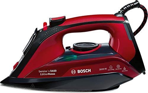 Bosch TDA503001P - Ferro da stiro a vapore 3000W Nero/Rosso