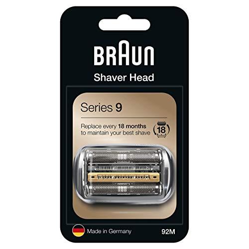 Braun Series 9 92M Testina Di Ricambio Per Rasoio Elettrico Uomo, Argento, Compatibile Con I Rasoi Series 9