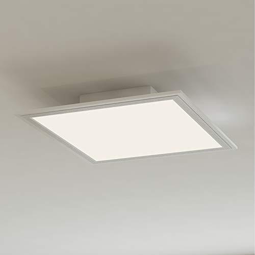 Briloner Leuchten 7191-016 Pannello a LED da soffitto quadrato – Design lineare ed elegante con cornice – 12 Watt, 1300 lumen, luce bianca neutra 4000 K, W, 29.5 x 29.5 x 4.9 cm
