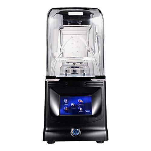 BRUNETTI Frullatore a bicchiere intelligente, 1800 W, professionale, schermo LED tattile, con ricette e impostazioni di capacità, 1,5 litri, rif. S2