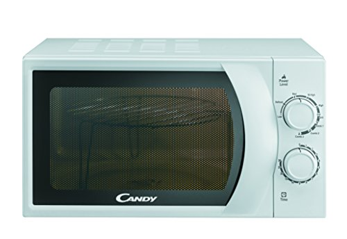 CANDY CMG 2071 M - Microonde con grill 20L, 45,2 x 26,2 x 33,5 cm, 700W, Potenza Grill: 900W, Bianco
