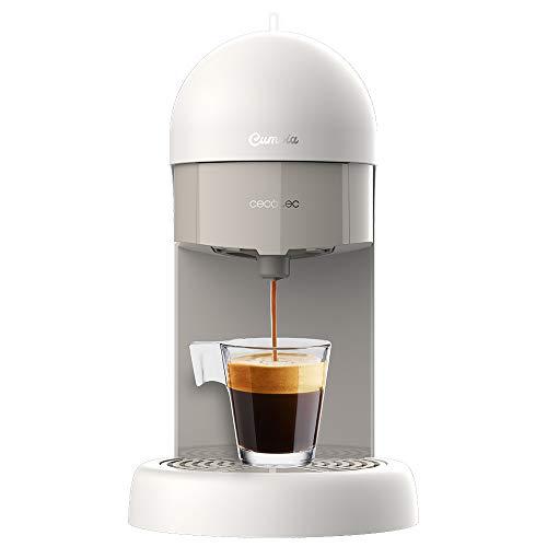 Cecotec Macchina del caffè Capricciosa White. Compatta,19 bar, 110W, per caffè macinato e cialde ESE.