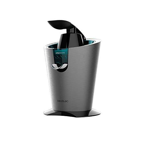 Cecotec - Zitrus 160 Vita Inox, spremiagrumi elettrico a leva, 160 W, filtro, 2 coni, antigoccia, silenzioso, lavabile in lavastoviglie acciaio inox inox