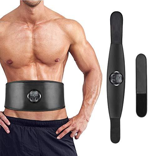 Cinture massaggianti ed elettrostimolatori, Potenziamento Muscolare Macchine per Le Braccia Gambe Elettrostimolatore per Addominali Muscolare EMS Trainer Non c'è Bisogno di Gel o pastiglie