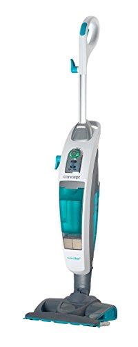 Concept Elettrodomestici Perfect Clean Aspirapolvere e Pulitore a Vapore 3 in 1, 1600 W, 0.73 Litri, 22 g/min, 80 Decibel, Bianco