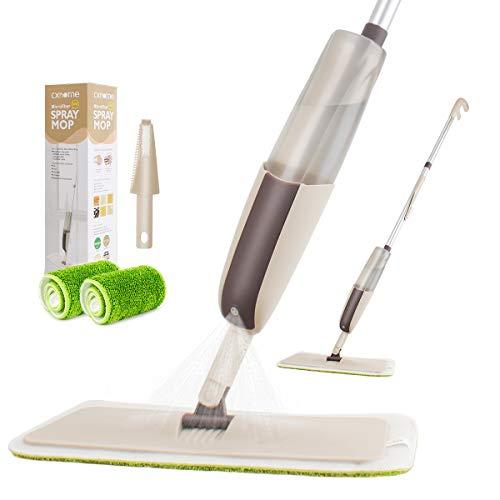 CXhome Spray Mop,Mocio in Microfibra con spruzzatore e capacità Rotante di 360 Gradi,Lavapavimenti a Spruzzo Scopa con 2 waschbaren Bodenwischer ersatzbezug e serbatoio,Spray Mopp per Home cucina