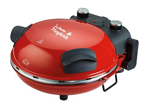 DCG Eltronic Forno Pizza Maker MB2300 1200W Timer e termostato, Rosso